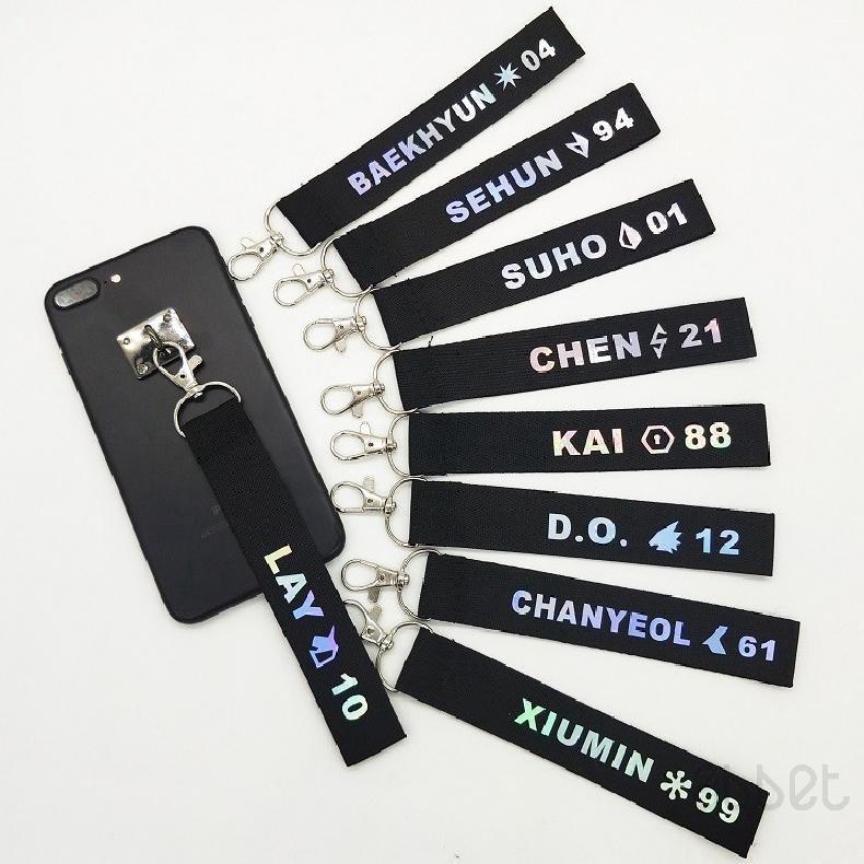Ready Stock] BTS KPOP BT21 Bangtan Boy EXO Lanyard Kchain Cellphone Name  Holder Strap Kring
