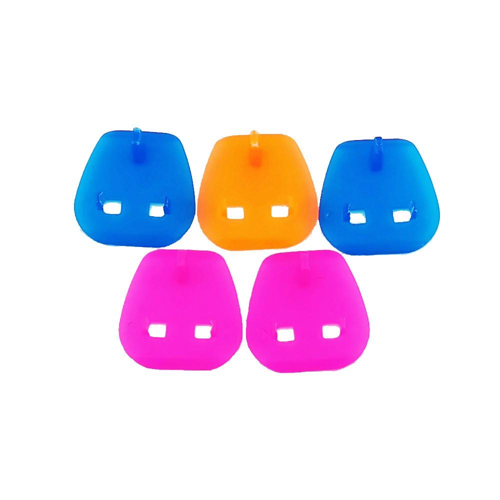 (5pcs) 2 Pin Multicolor Safety Plug Key Plastic Adapter Converter