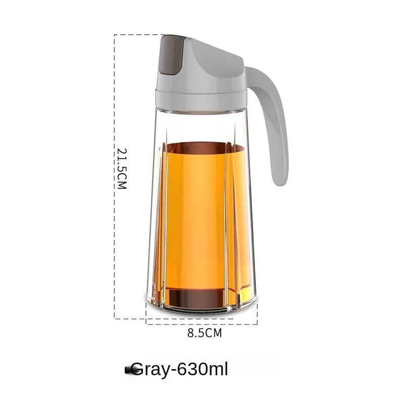 [ READY STOCK ]  Kitchen Glass Oil Bottle Dispenser Automatic Open Close Bottle Oil Vinegar Honey Jualan Murah Simpanan