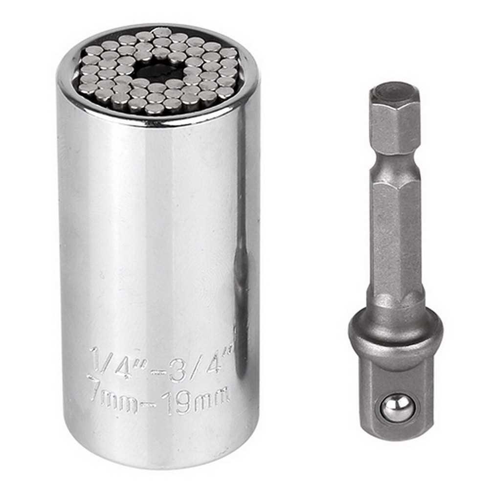 New 7-19mm Universal Torque Wrench Set Gator Grip Head Key Sleeve Socket Ratchet