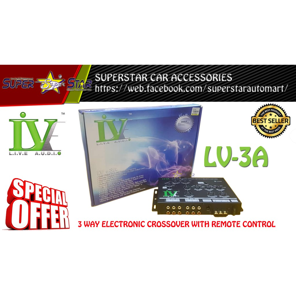 LIVE AUDIO (LV-3A) 3 WAY ELECTRONIC CROSSOVER WITH REMOTE CONTROL