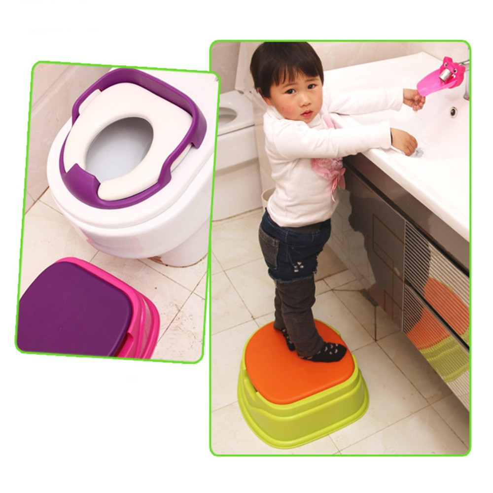 Babyyuga Baby Children Potty Training Step Stool Toilet Seat 3in1 Potty 3 Coulor