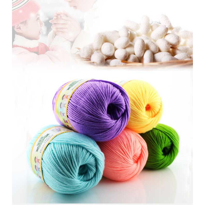 CHIC 20 colors Crochet Soft Bamboo Cotton Knitting Yarn Baby Natural Wool Yarn