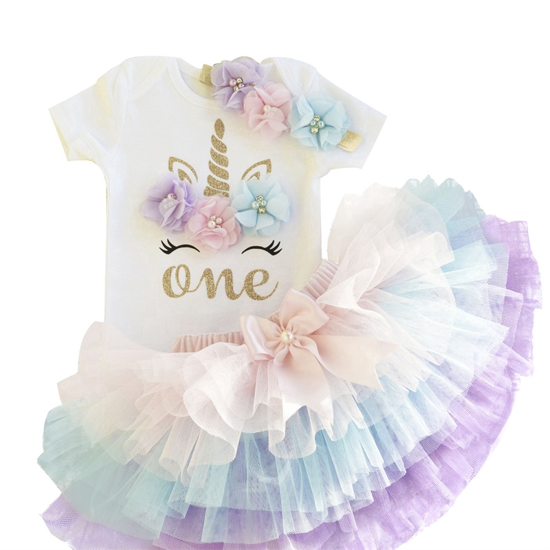 4b33d44c3af0d [NNJXD]Baby Girl Unicorn 1st Birthday Party Romper Tutu Dress Clothes Sets  Outfits