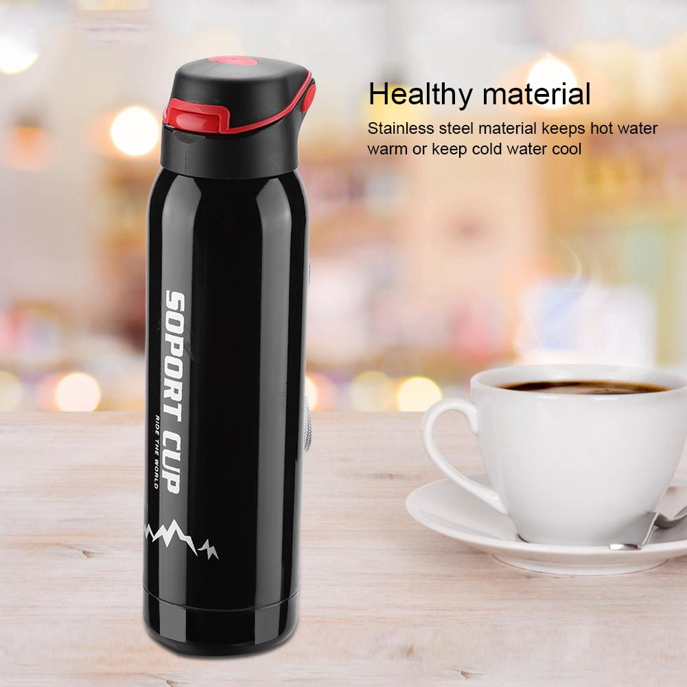 5d9444f48a 500ml Stainless Steel Vacuum Thermos Insulated Water Bottle Flask Travel Mug