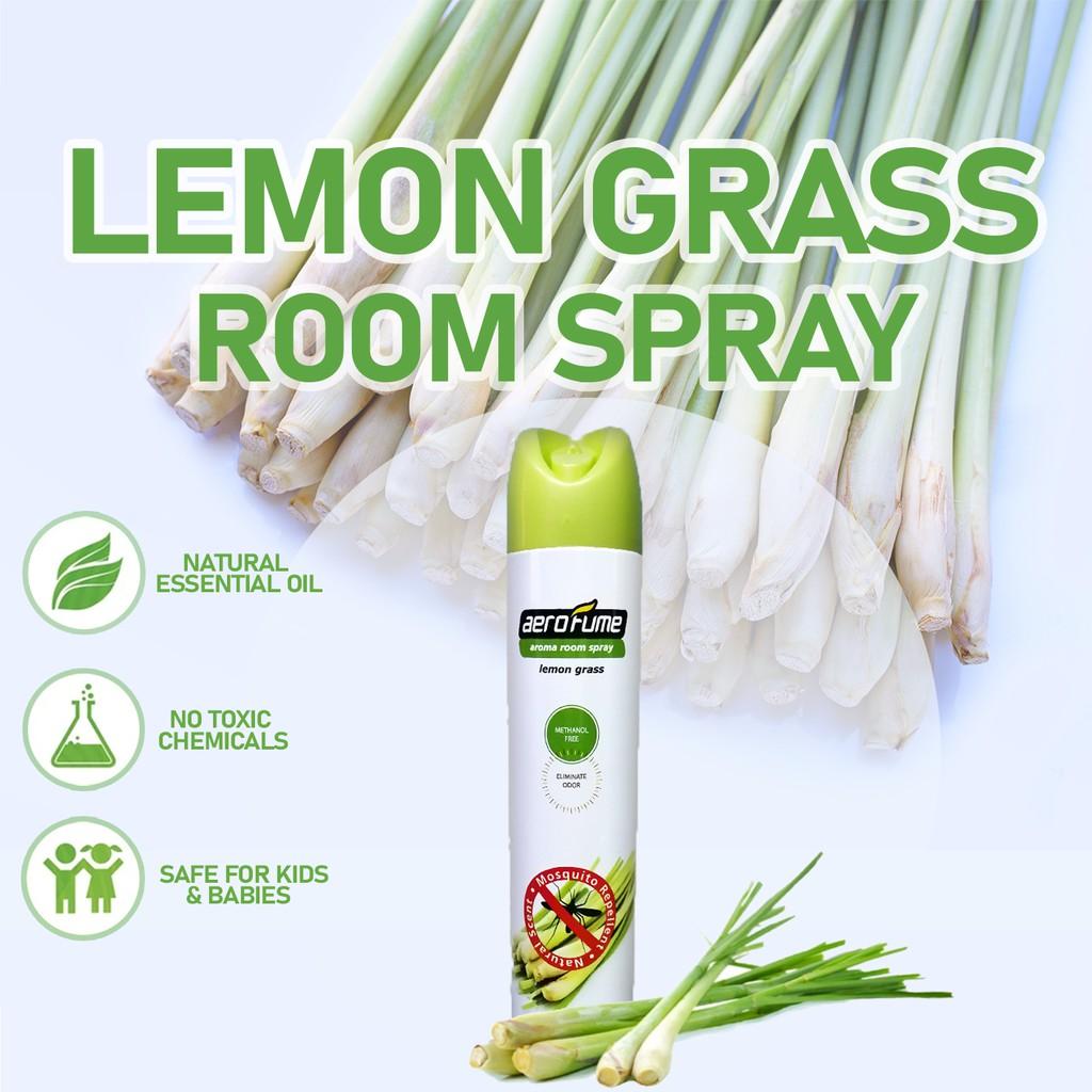 Lemon Grass Aroma Spray Air Freshener Mosquito Repellent (320ml) Fragrance