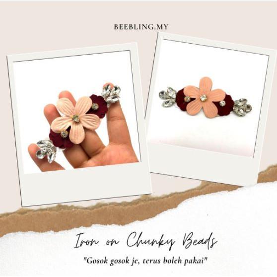 BeeBlinG Iron On Chunky Beads Mix Bunga 3D (D14) RM 5.00 / PCS