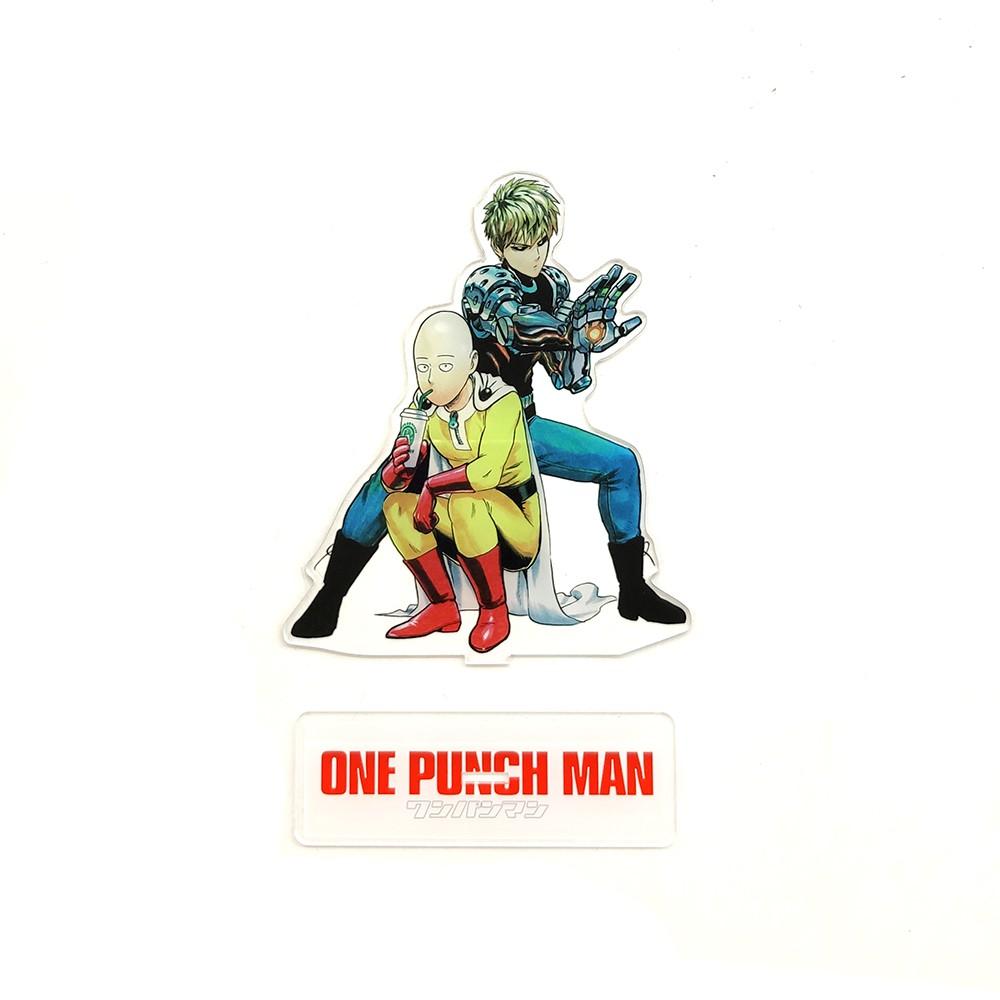 One-Punch Man Saitama acrylic stand figure model double-side cake topper anime
