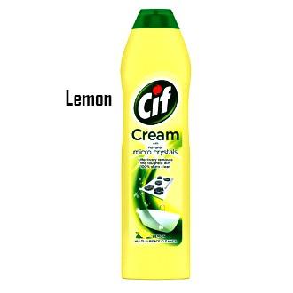 CIF Cream Original / CIF Lemon Cleaner / ZIP FLORAL / ZIP LEMON  -500ML
