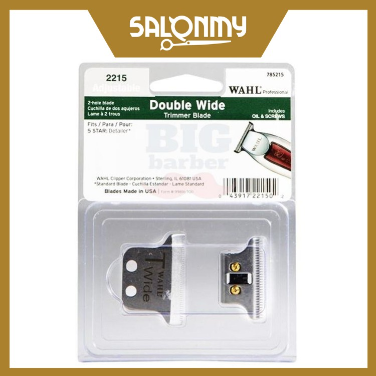 WAHL Double Wide T-Blade Trimmer Blade (2215) for Detailer and Hero