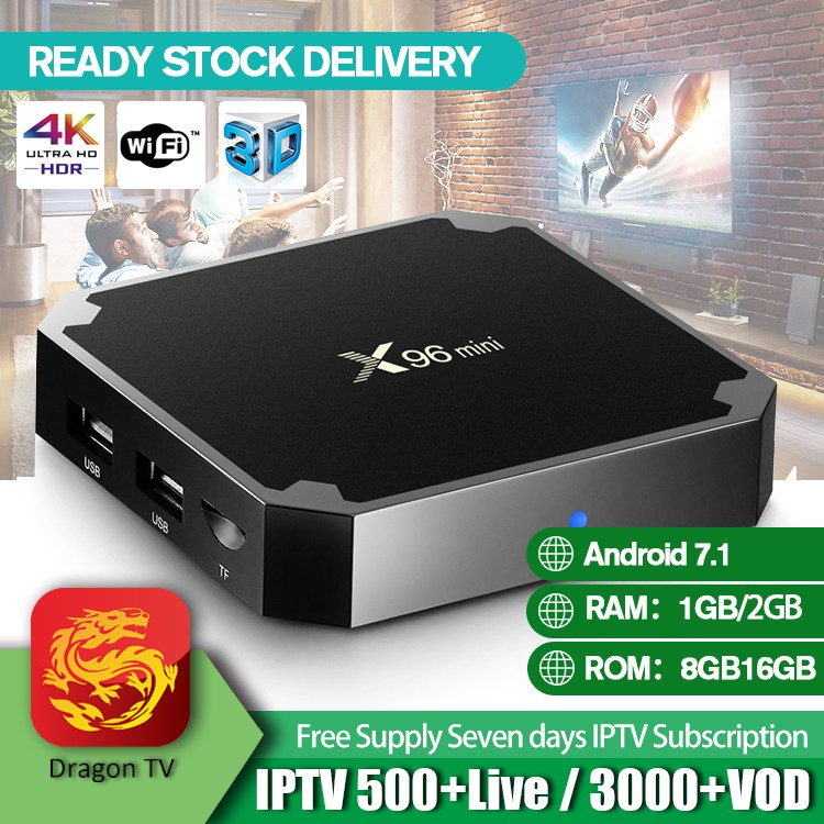 iLEPO Amlogic S905W X96 MINI Android 7 1 TV Box Quad Core 2GB 16GB KODI17 6