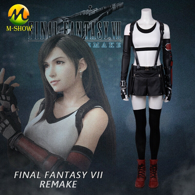 Final Fantasy VII Remakes Cosplay Tifa Lockhart Halloween Adult Female Costume