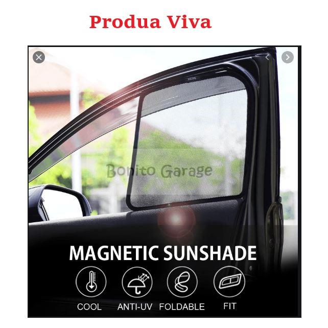 Magnetic Sunshade Perodua Viva 4pcs