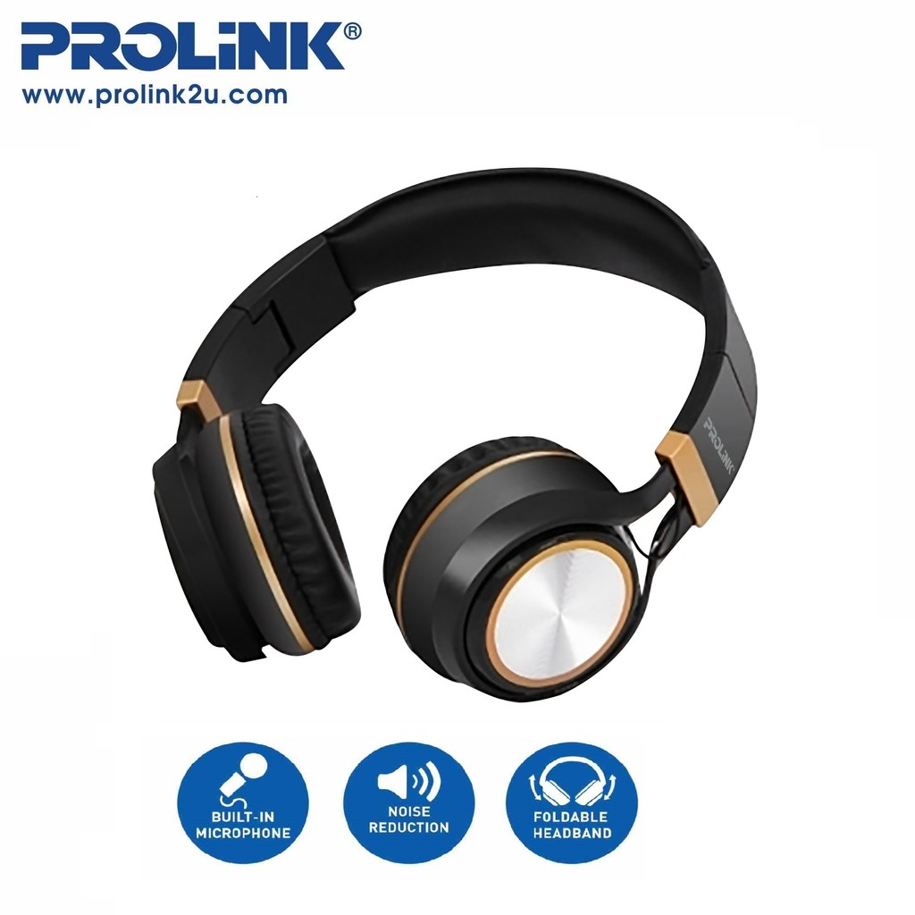 PROLiNK Corded Stereo Adjustable Foldable Headset Padded Ear Pads PHC1002E