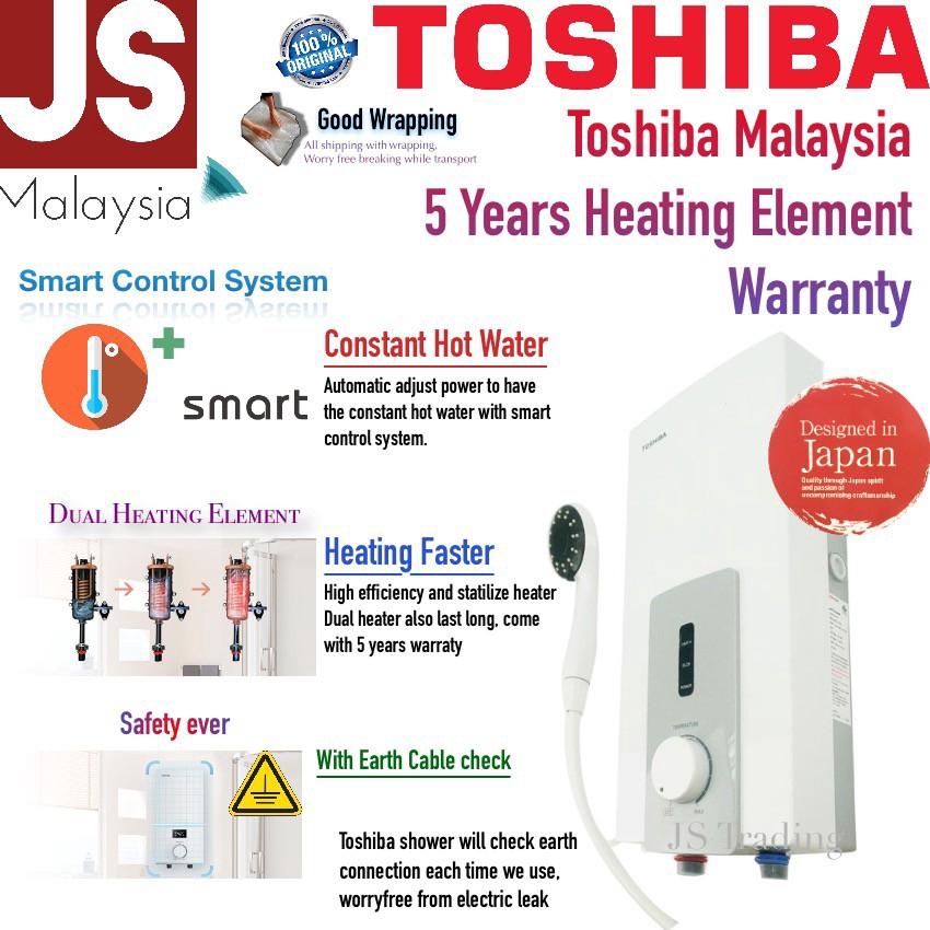 Toshiba Water Heater Dual Heating Element Dsk38s5mw 5 Years Heater Warranty Shopee Malaysia