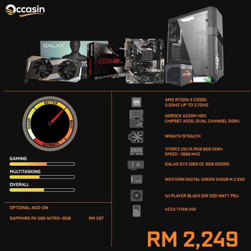 RYZEN 3 2200G/8GB/240GB/GTX1060