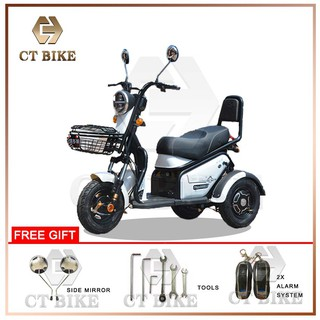 Ct Bike 3 Wheel Tricycle Electric Scooter 48v12ah Shopee Malaysia