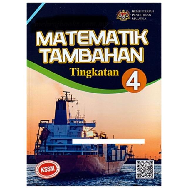 Buku Teks Matematik Tambahan Kssm Tingkatan 4 Edisi 2020 Shopee Malaysia