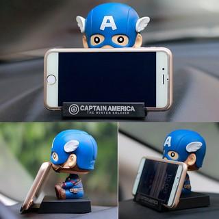 10cm Mini Captain America Spiderman Groot Batman Car