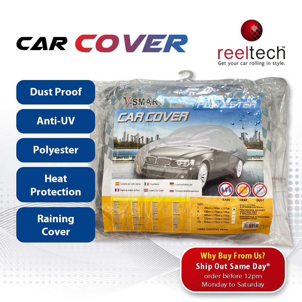 Car Cover Protection - Dust Proof   Anti-UV   Heat Protection   Raining Cover   Water Resistant   Kereta Cover