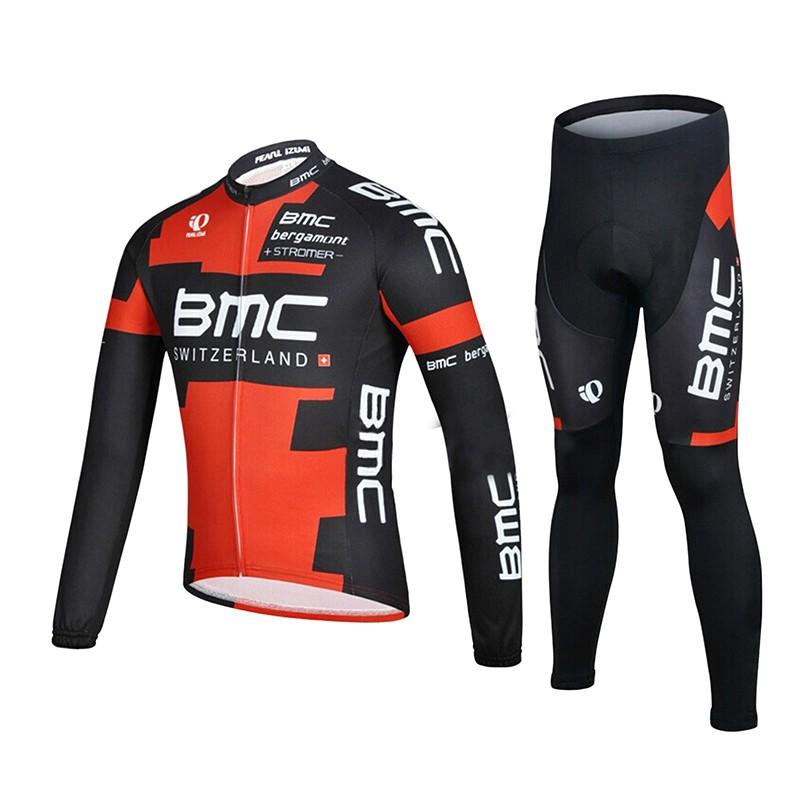 691d71173 Winter long sleeve new man Cycling Jerseys set mountain bike clothing BMC