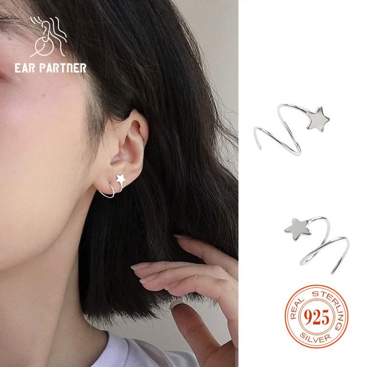 Ling Studs Earrings Hypoallergenic Cartilage Ear Piercing Simple Fashion Earrings Ear Jewelry S925 Sterling Silver Needle Zircon Small Earrings Mini Crystal