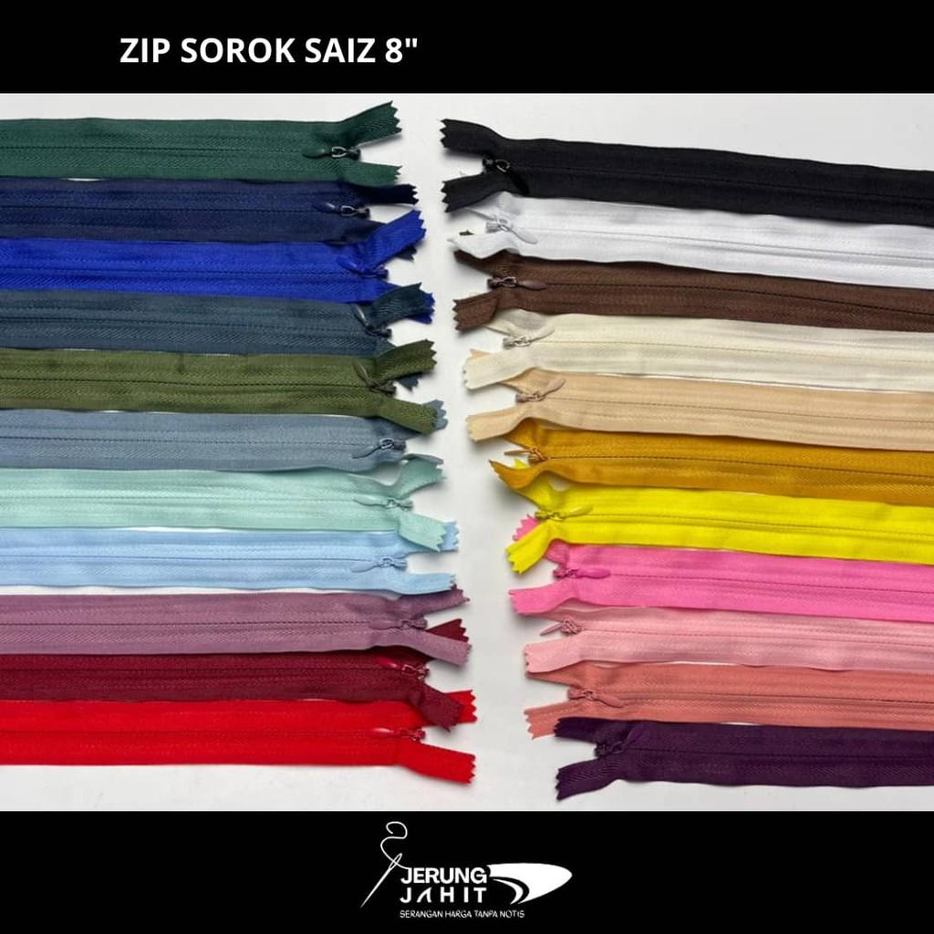 """Zip Sorok/Sembunyi Saiz 8""""10""""12""""14'16""""18""""20""""22"""" (12pcs/Sedozen) [READY STOCK]"""