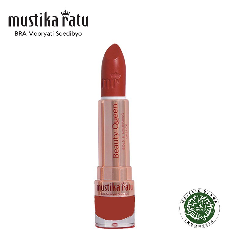 Mustika Ratu Beauty Queen Bold & Nourishing Lipstick - 06 Lovely Lily (4g)