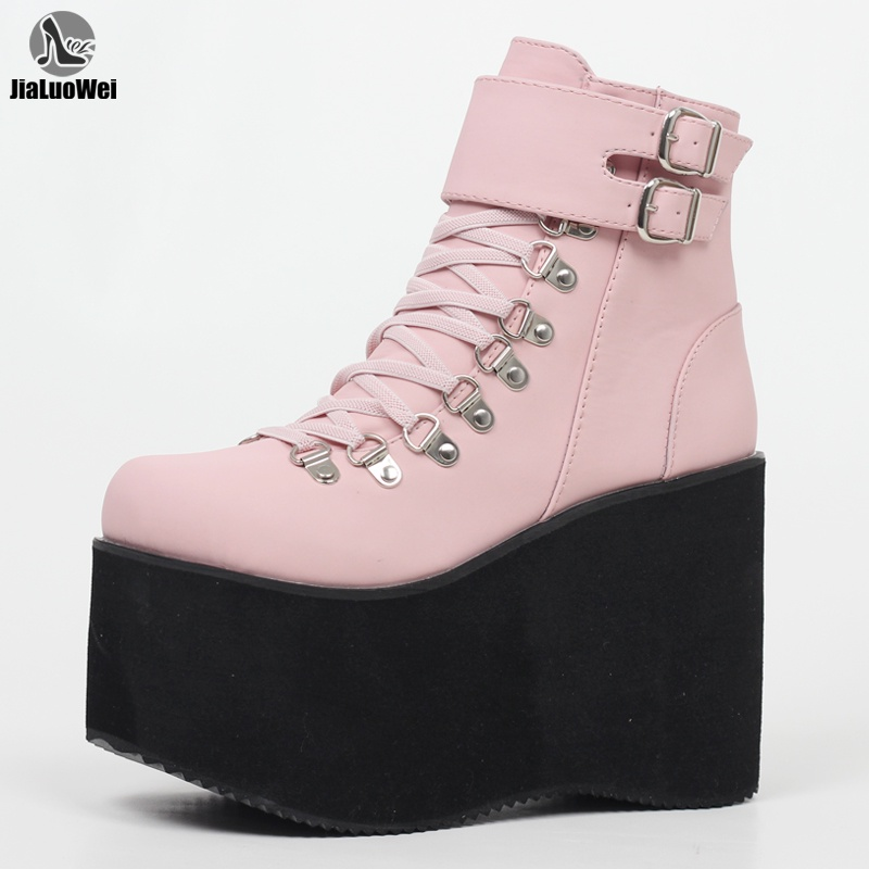 Details about  /Fashion Leather 5cm Block Heel Knee High Knight Boots Gothic Punk Shoes Hong2