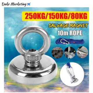 12-60mm Recovery Magnet Hook Strong Sea Fishing Diving Treasure Hunting Charm