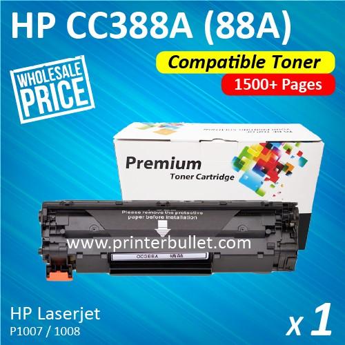 HP CC388A / 88A Compatible Toner Cartridge For LaserJet HP P1007 P1008 P1106