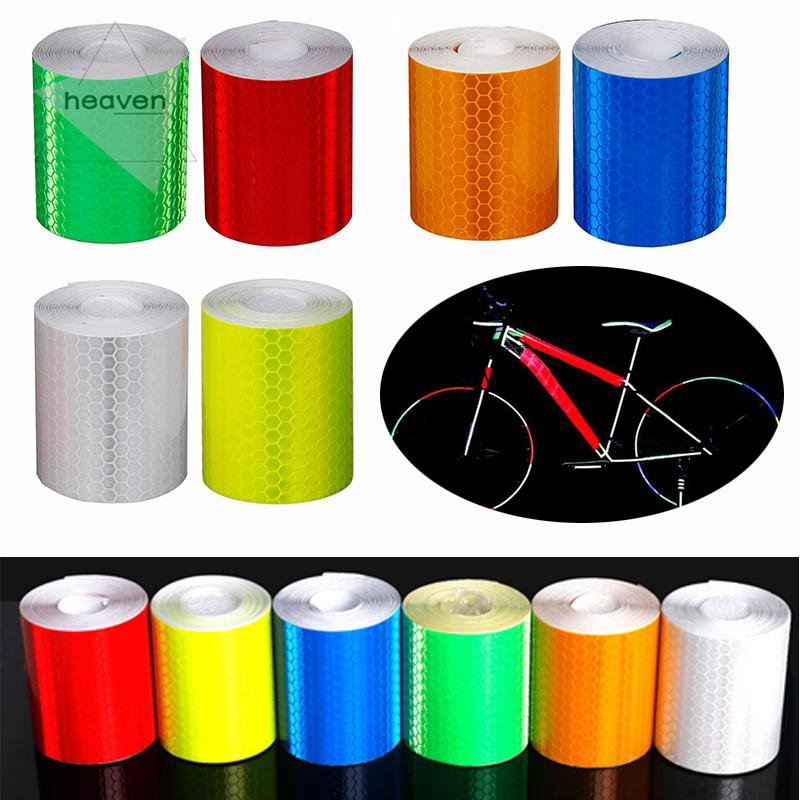 1 Roll Bike Body Reflective Strips Motorcycle Waterproof Tape Sticker Reflector