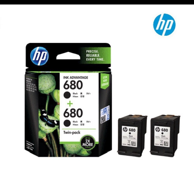HP 680 DESKJET ORIGINAL Printer INK ADVANTAGE Cartridge Black (Hitam)