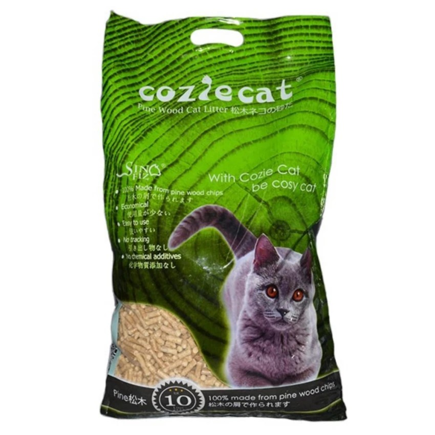 coziecat pine wood cat litter 10l 6kg shopee malaysia. Black Bedroom Furniture Sets. Home Design Ideas
