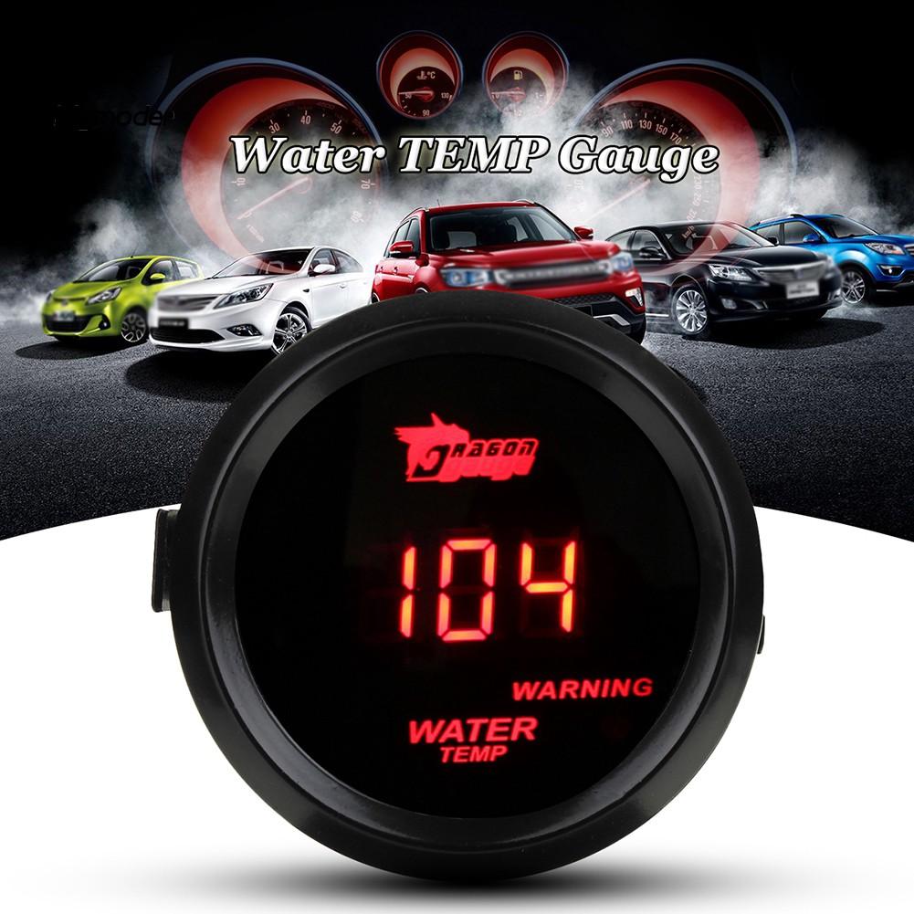 BIG-Car 12V 52mm Red Digital LED Electronic Water