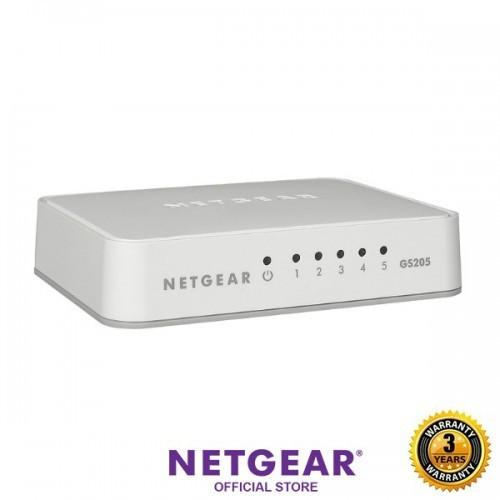 NETGEAR 5 Port Gigabit Unmanaged Desktop Switch Plastic Casing GS205