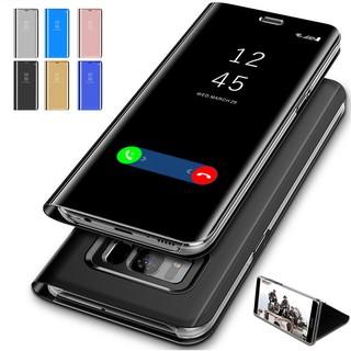Samsung Galaxy S7 Edge/Note 9 Luxury Mirror Clear Flip Case PU hard phone cover