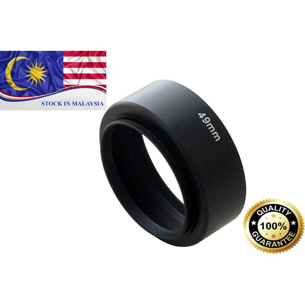 Screw Mount 49mm Standard Metal Lens Hood for Canon Nikon Sony (Ready Stock In Malaysia)