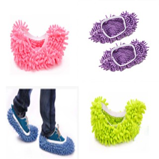 Multi Function Chenille Fibre Washable Dust Mop Slippers