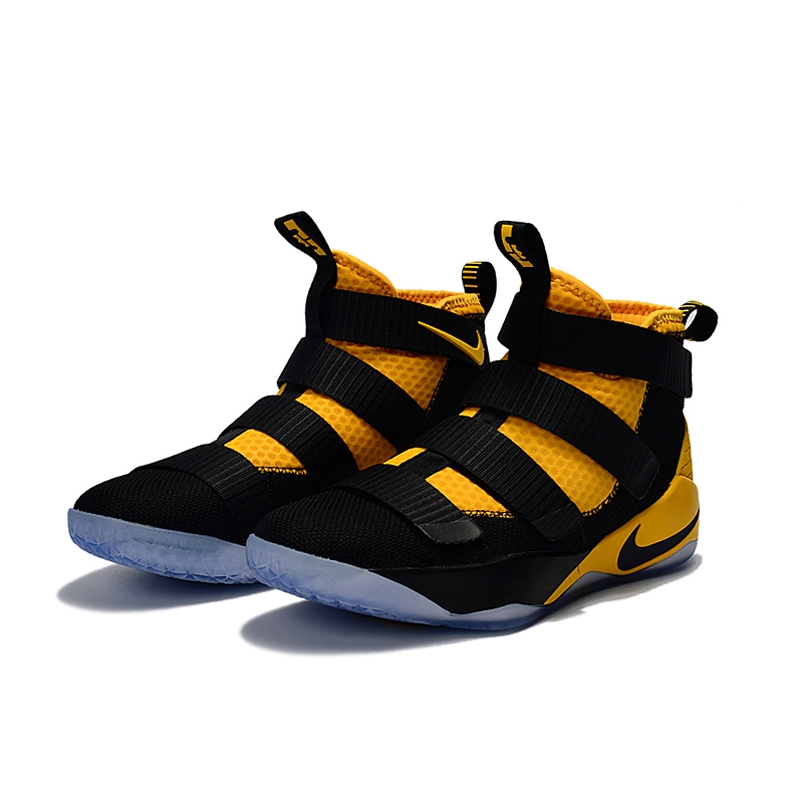 best loved 84b23 9bb89 Nike Lebron James 11 Soldier Bandage Bumblebee High Basketball Shoes