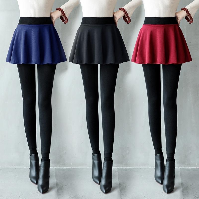 Thermal Skirt Legging Celana Rok Tebal Fur Skirt Flare Skirt Legging Celana Legging With Rok 2in1 Shopee Malaysia