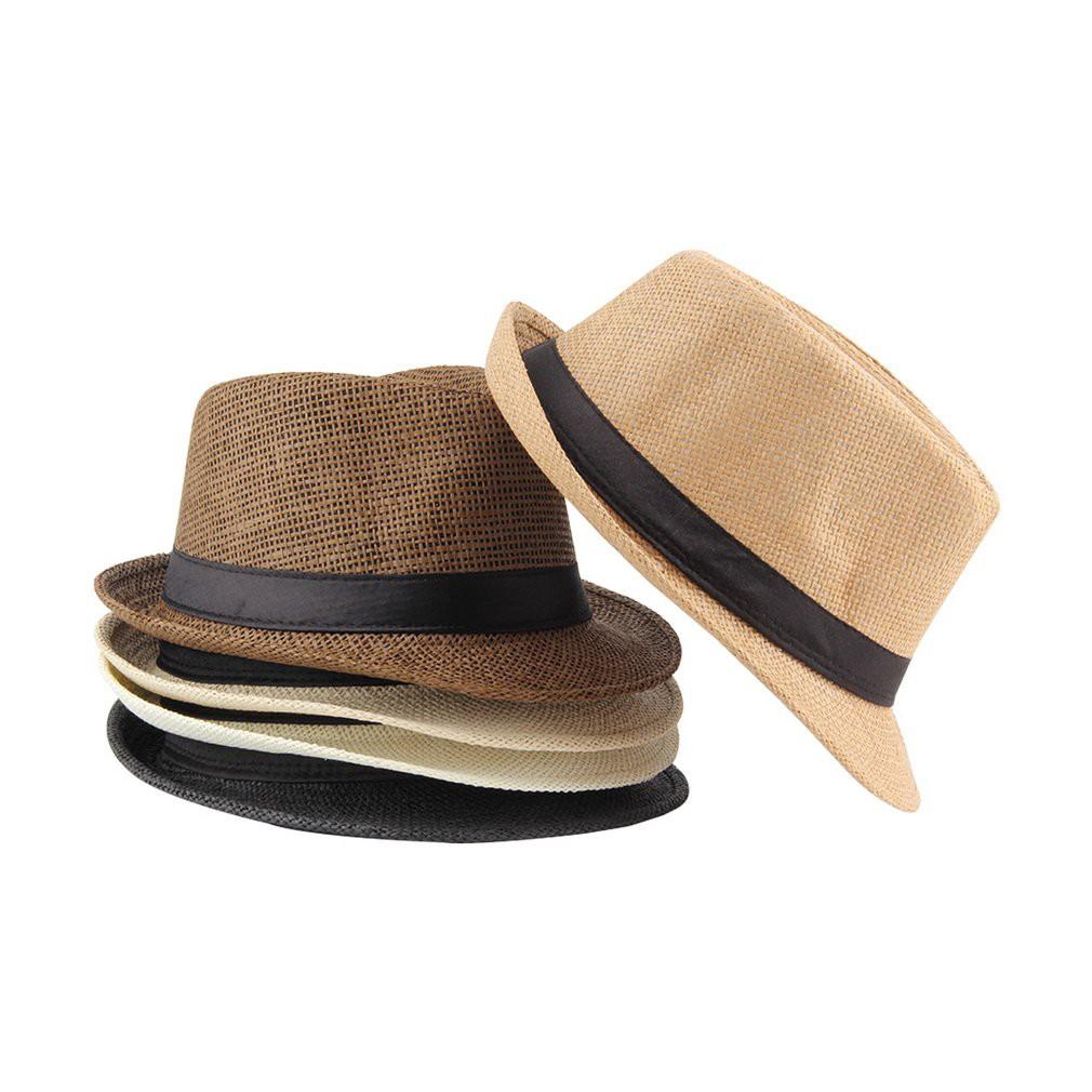 c141206f338373 ProductImage. ProductImage. Unisex Fedora Trilby Hat Cap Straw Panama Style  ...