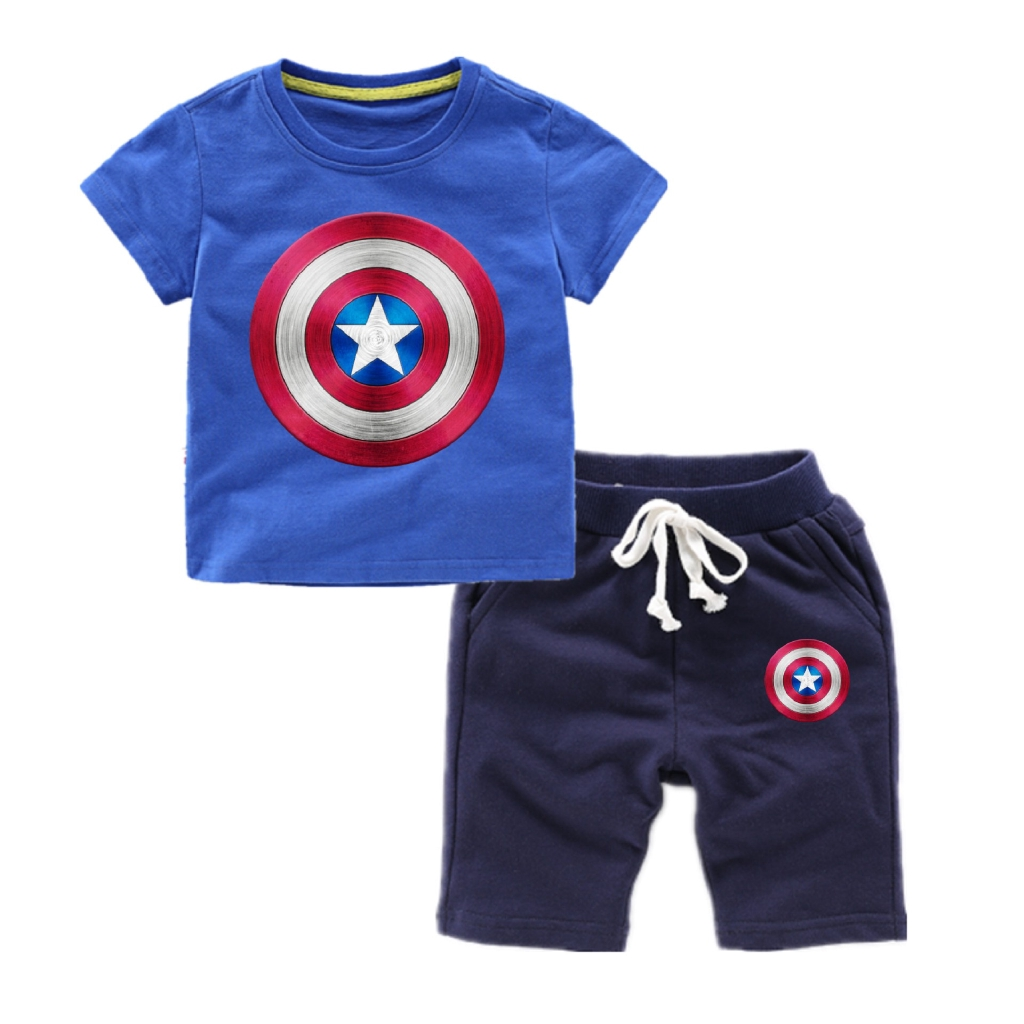 c70434c4e0 Spiderman Iron Man Hulk Thor Captain America Home Clothing Set Boys Kids  Pajama | Shopee Malaysia