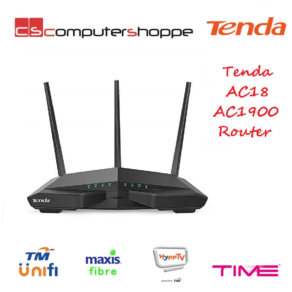 🔥HOT🔥Tenda AC18 AC1900 WiFi Gigabit Wireless Router UniFi Maxis Time Fiber