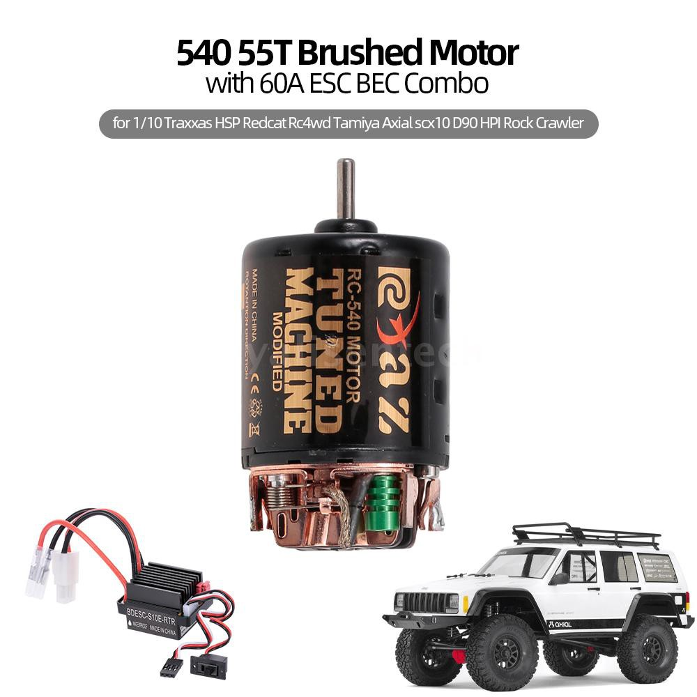 AUSTAR 540 55T Brushed Motor per 1//10 Axial SCX10 RC4WD D90 Crawler RC Car Black
