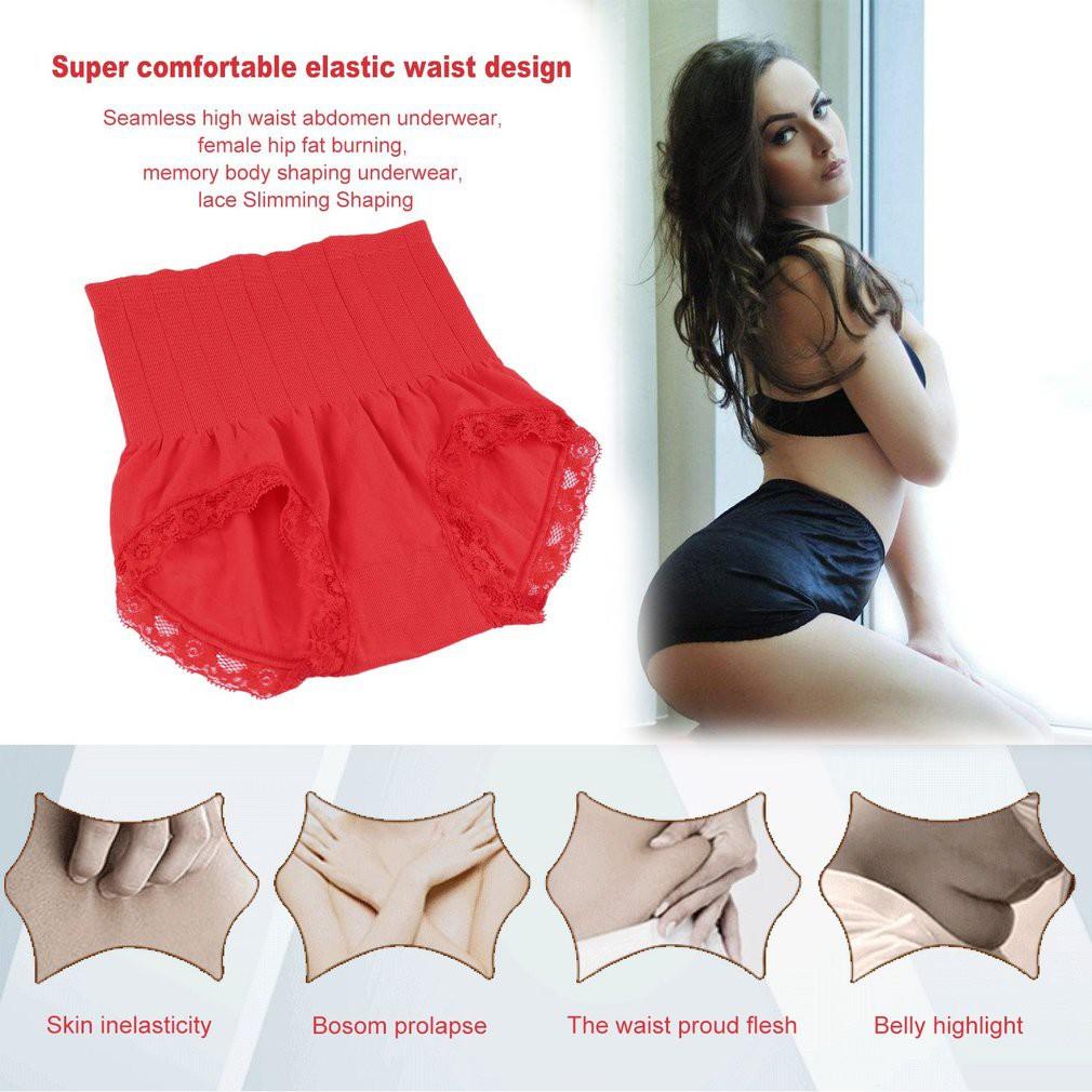 fbc1478dfc Seamless High Waist Abdomen Underwear Fat Burning Body Shaping Underwear