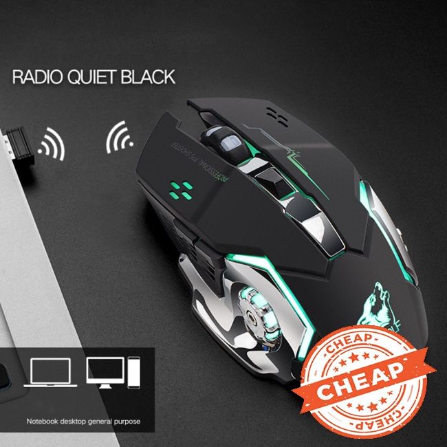 Rechargeable Wireless Silent LED Gaming Mouse USB Optical Mouse for PC Computer Peripherals