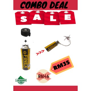 COMBO SALE] Finex Gas + Kovea Gas Adaptor Set | Shopee Malaysia
