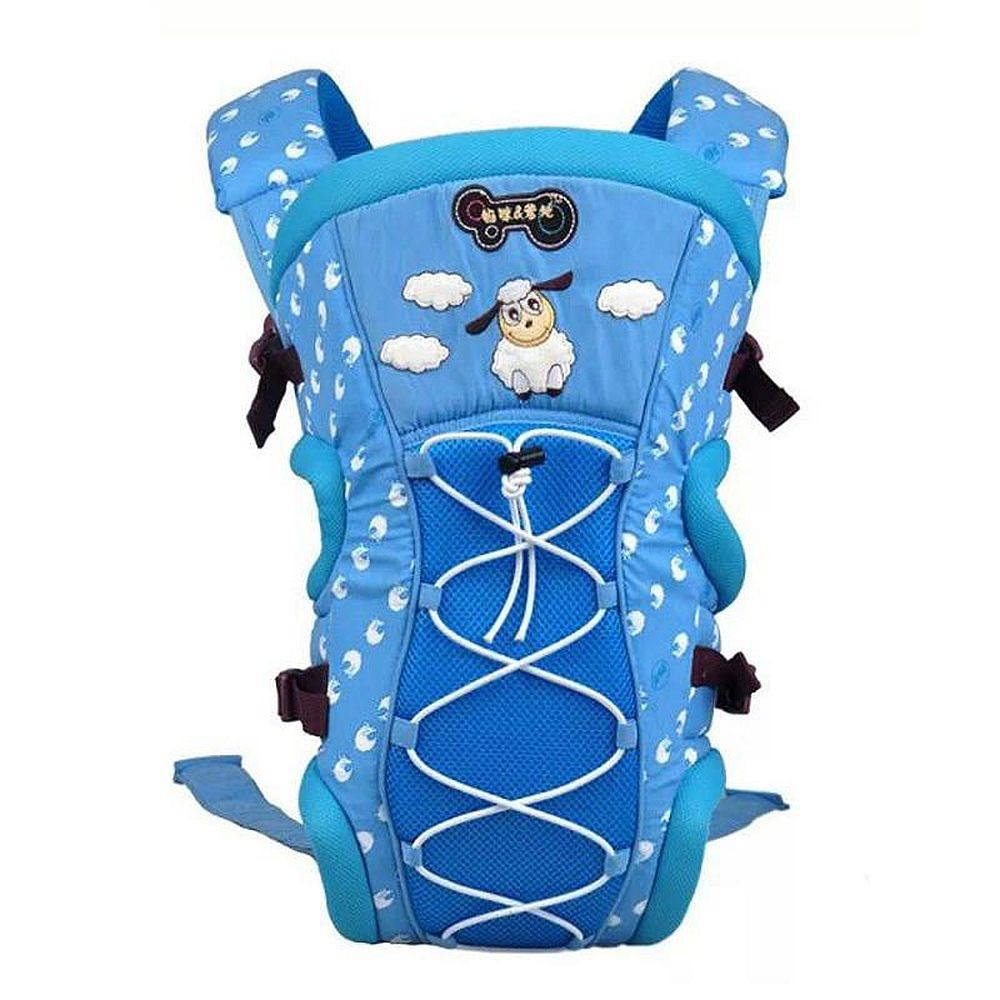 Mylilangelz KA0162 Mommy & Daddy Breahable 2-In-1 Baby Carrier (Blue) (READY STOCK)
