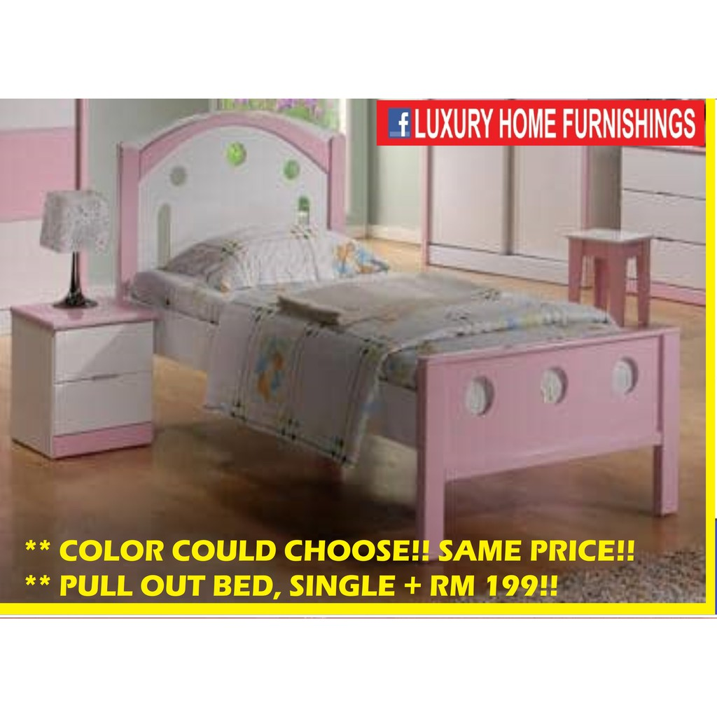 Children Bed Collections, Super Single bed WITH SAFETY SIDE RAILS, EXPORT SERIES!! RM 849!! BEST BUY RM 599!!